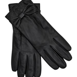 Long Tall Sally Knot Detail Leather Gloves NWT